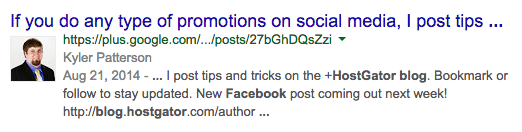The Google Authorship Update