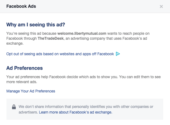 Ad using An Facebook Advertising Company
