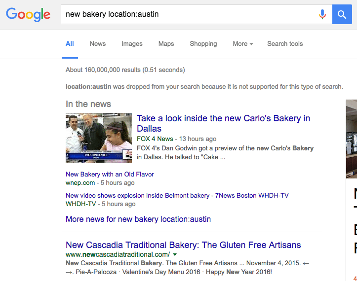 Search by location in Google