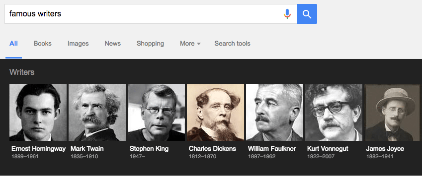 Google Knowledge Graph Image Carousel