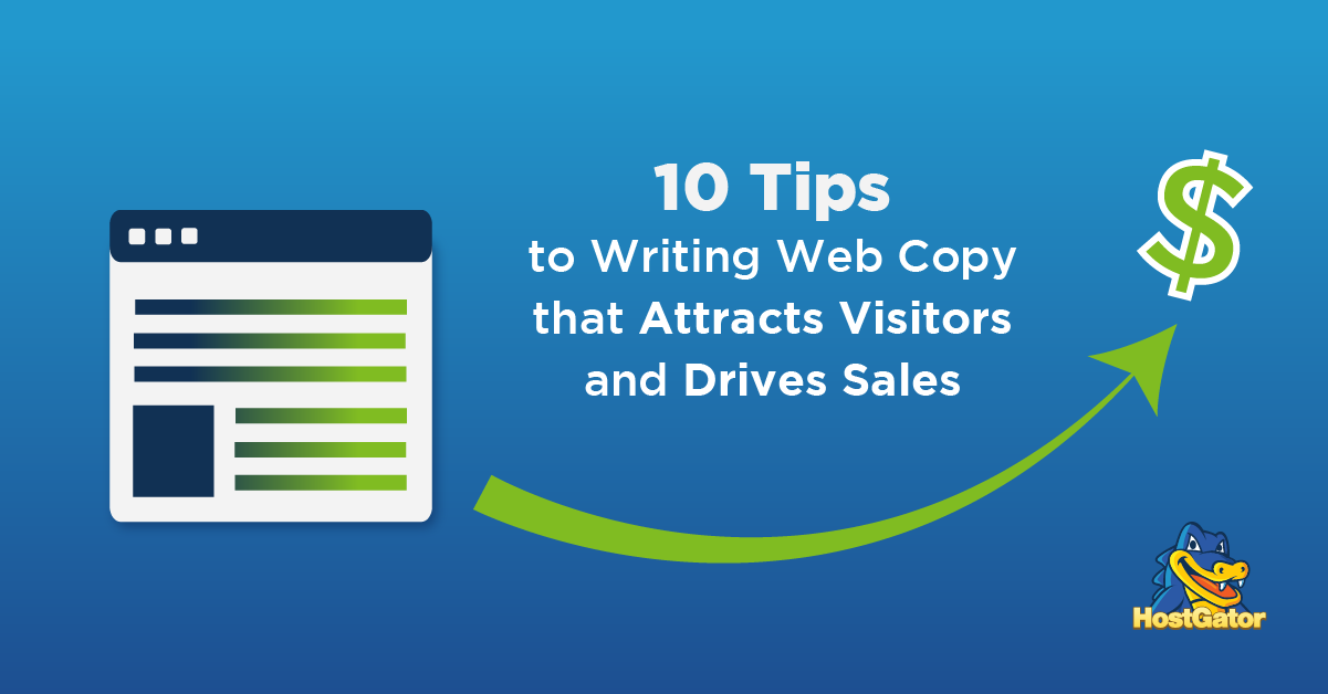 10 Tips to Writing Web Copy that Attracts Visitors and Drives Sales