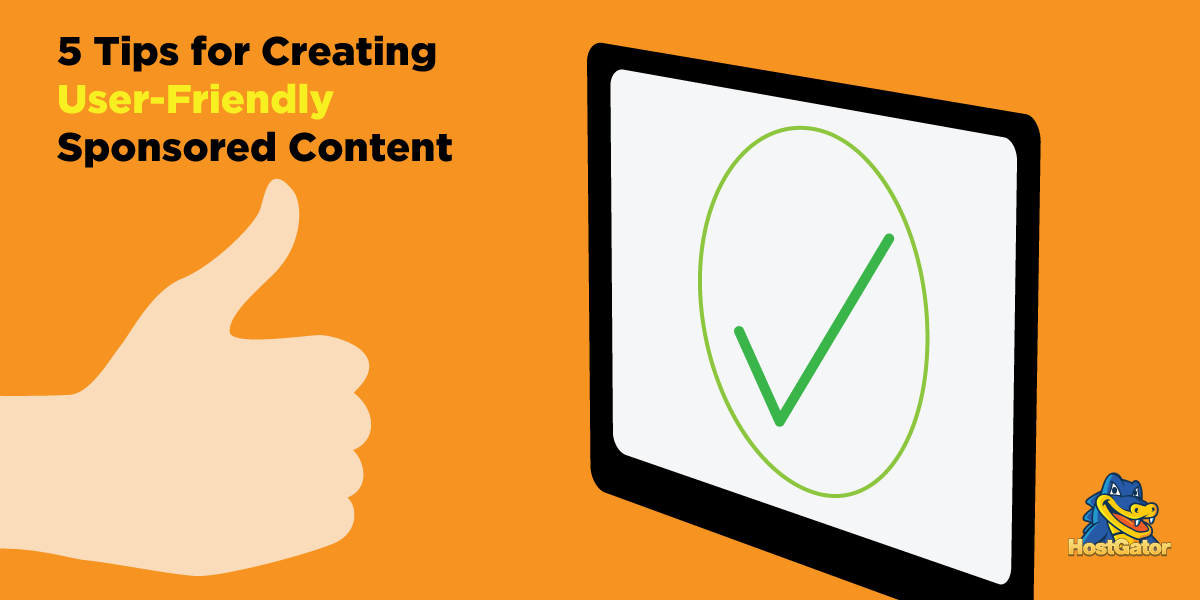 Creating User-Friendly Sponsored Content