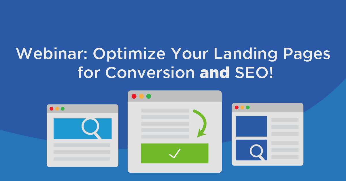 Webinar Optimize Landing Pages for Conversions and SEO