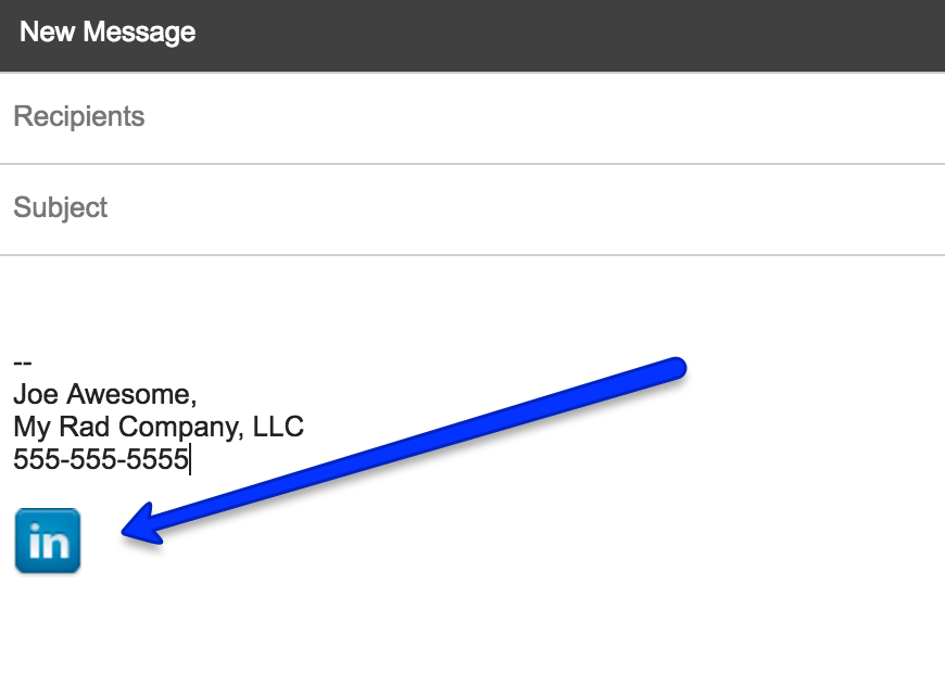 LinkedIn in Email Signature