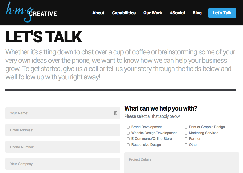 Website Lead Contact Form