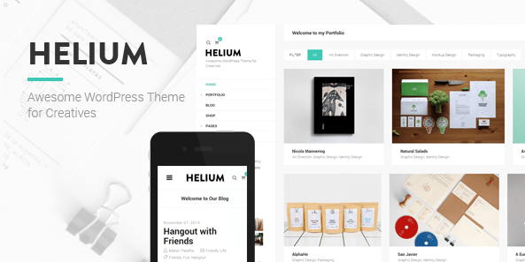 Helium WordPress theme