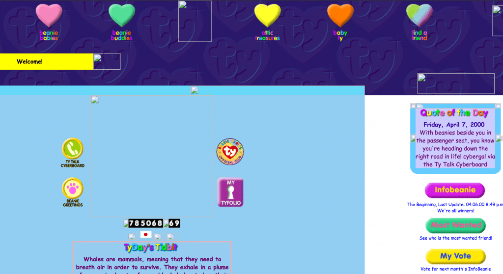 Comic Sans 1990s Website