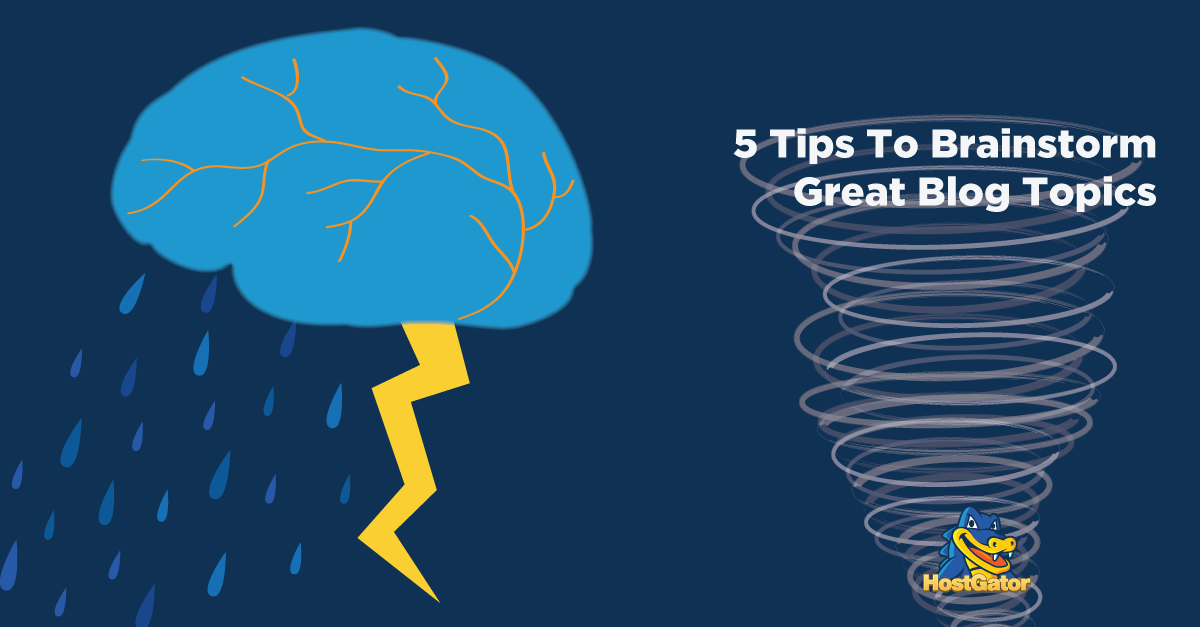 How to brainstorm great blog topics