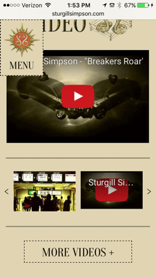Simpson Mobile Website 2