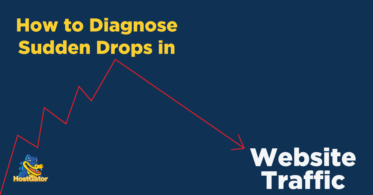 Diagnose drops in site traffic