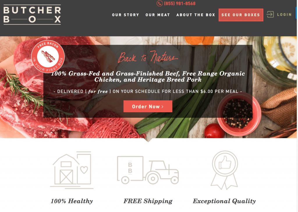 Meat subscription box