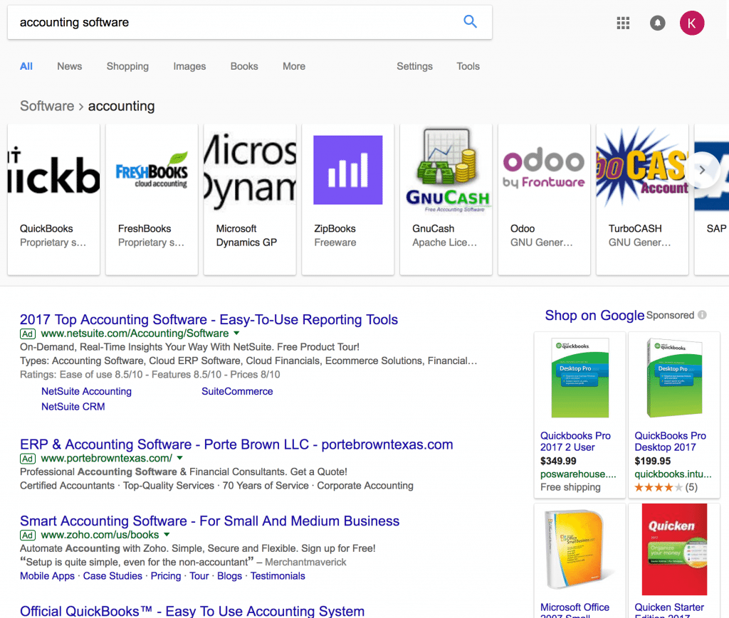 Google organic vs paid results