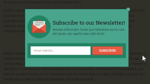 popup box email newsletter