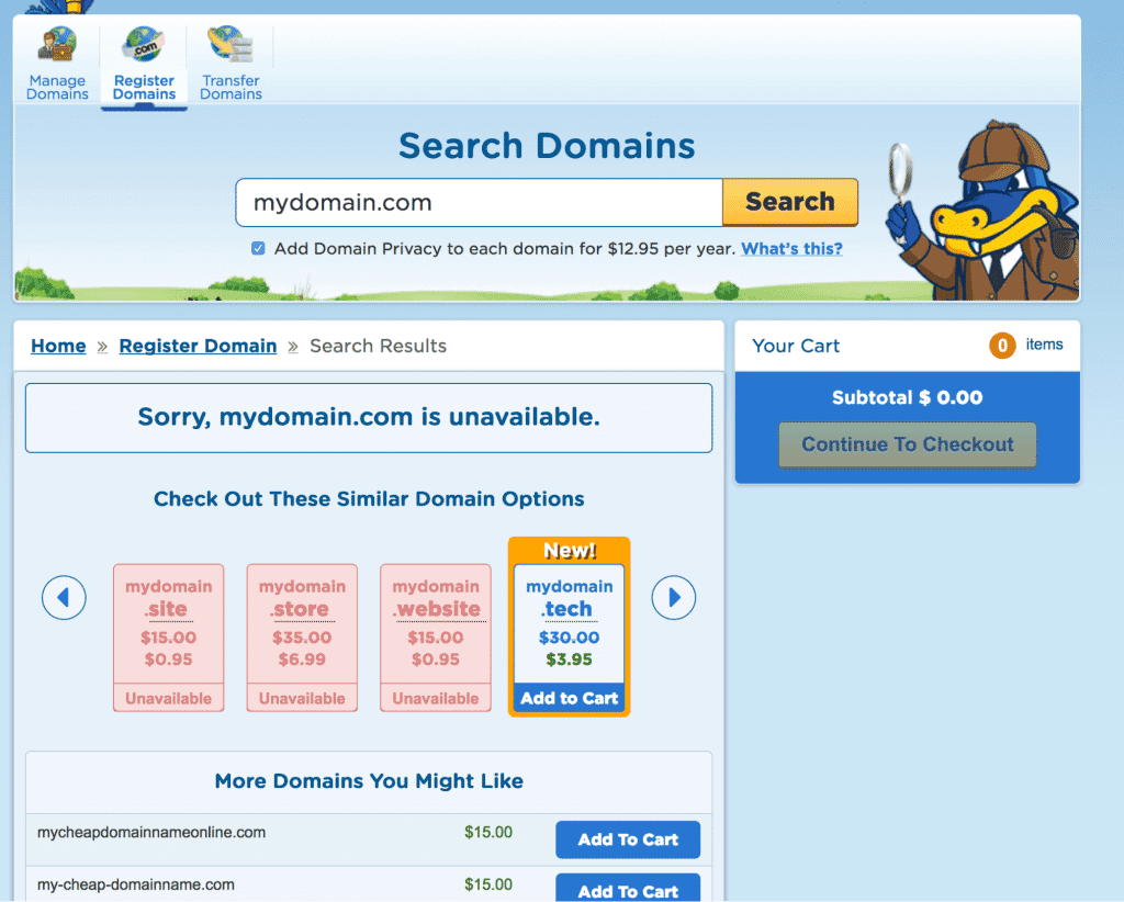 check whether domain name is available