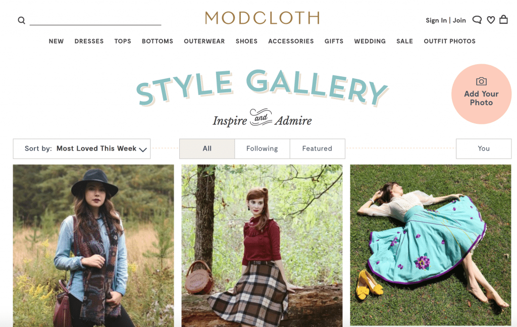 modcloth style gallery