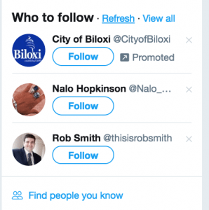 twitter ads promoted accounts