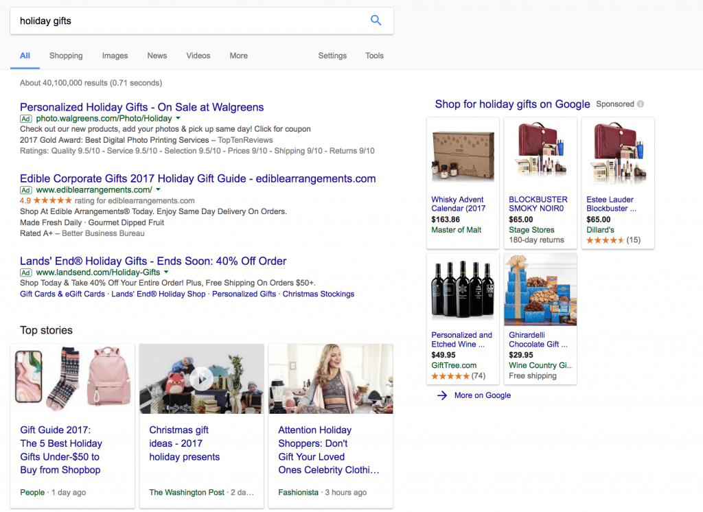ecommerce ppc holiday ads