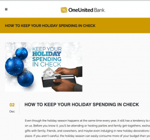 holiday spending content ideas