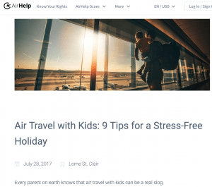 holiday travel content ideas