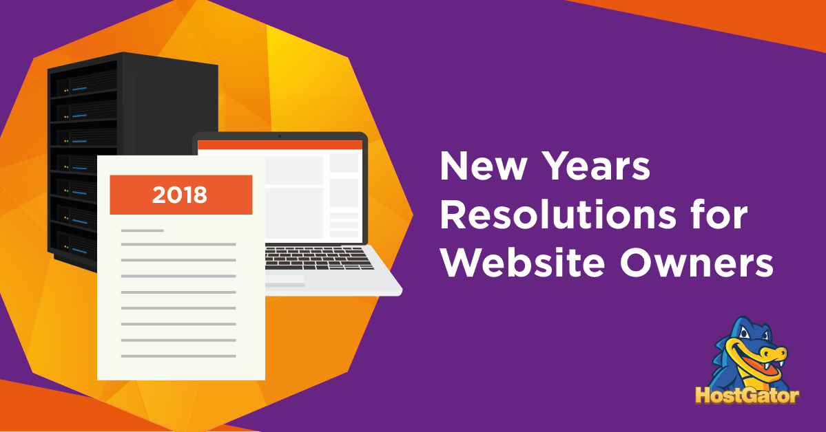 New Years Resolutions for Website Owners