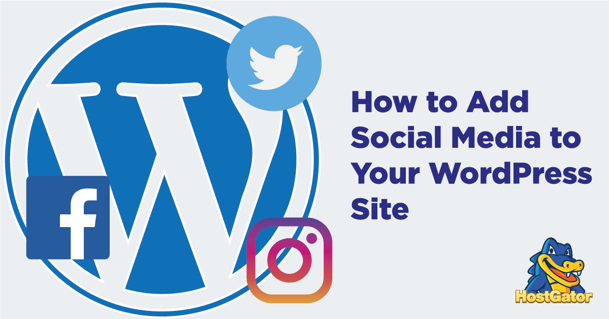 How to add social media to WordPress