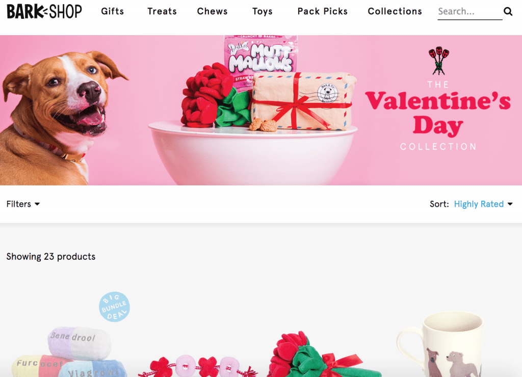 ecommerce content idea for Valentine's Day gift guide
