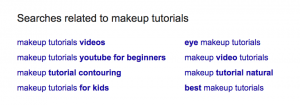related keywords in google search