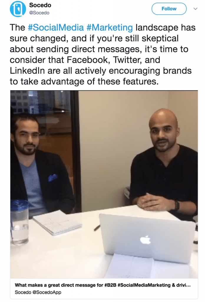social live video example on twitter