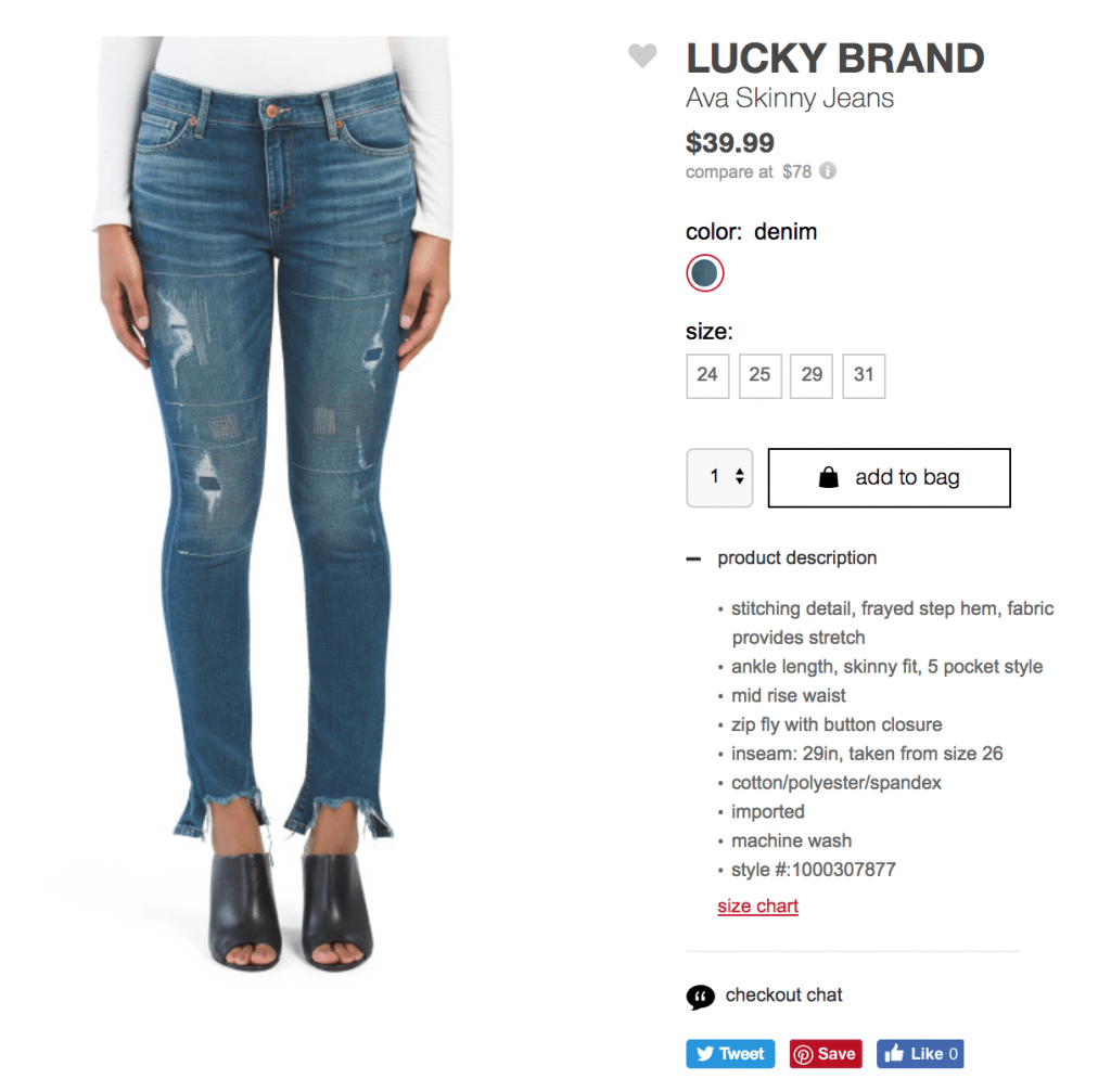 ecommerce product listing example