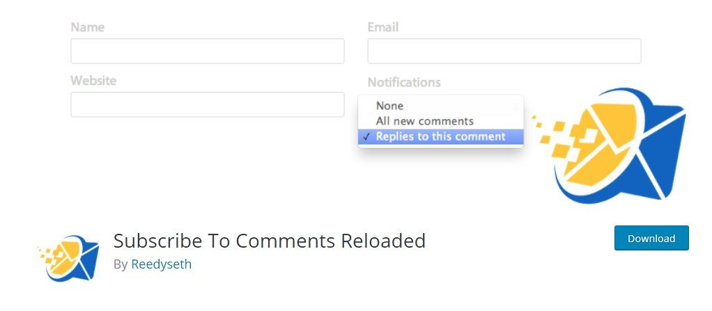 subscribe to comments reloaded wordpress plugin