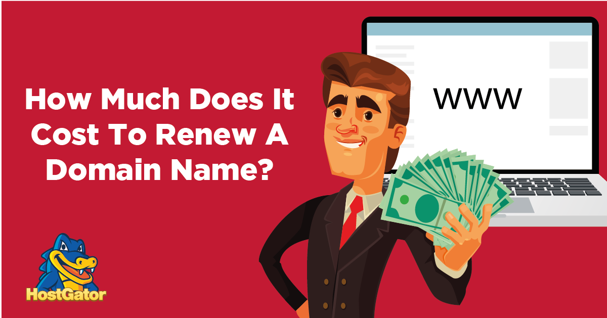 how much does it cost to renew a domain name