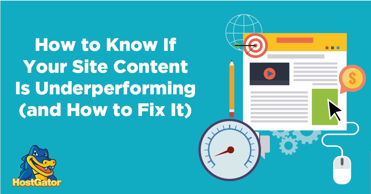 how to fix underperforming site content