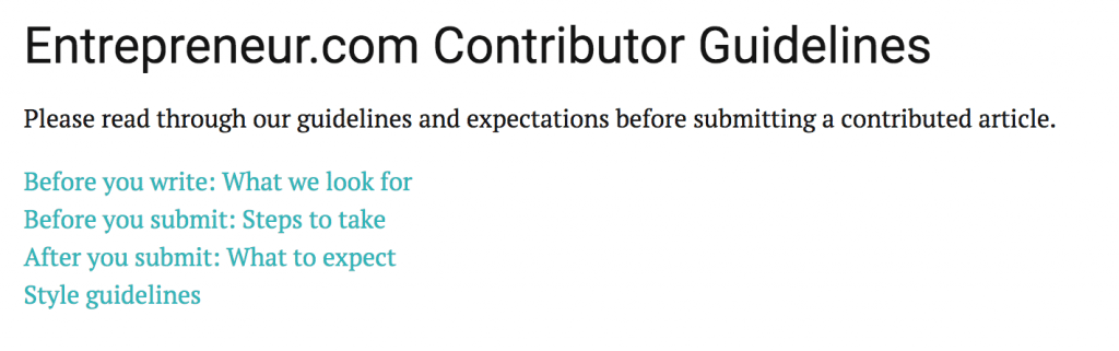 guest blog contributor guidelines