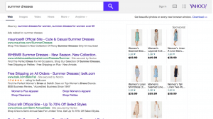 yahoo ppc search results