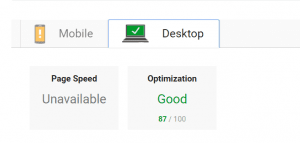 pagespeed insights new desktop