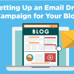 set up an email drip campaign for blog