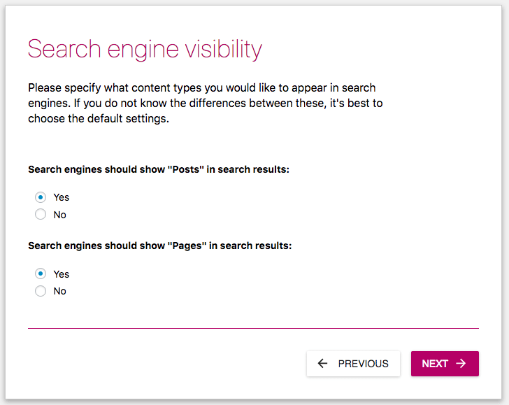 yoast search engine visibility