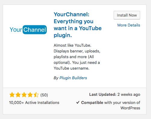 install yourchannel plugin