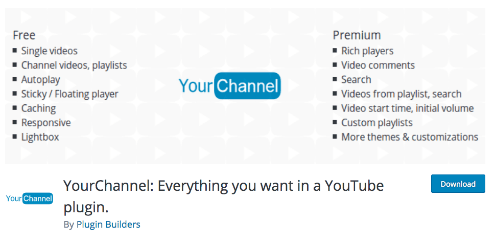 yourchannel wp plugin