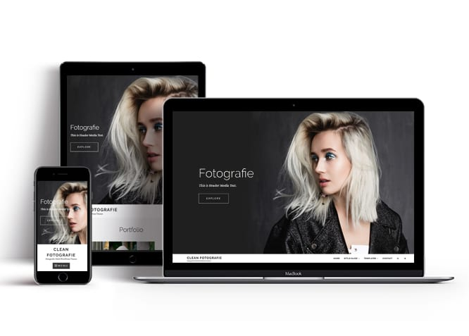 clean fotografie wordpress theme for freelance photographers