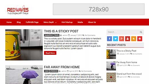 google adsense placement example