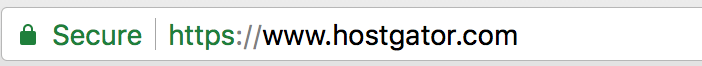 how website with secure ssl certificate appears in google chrome browser