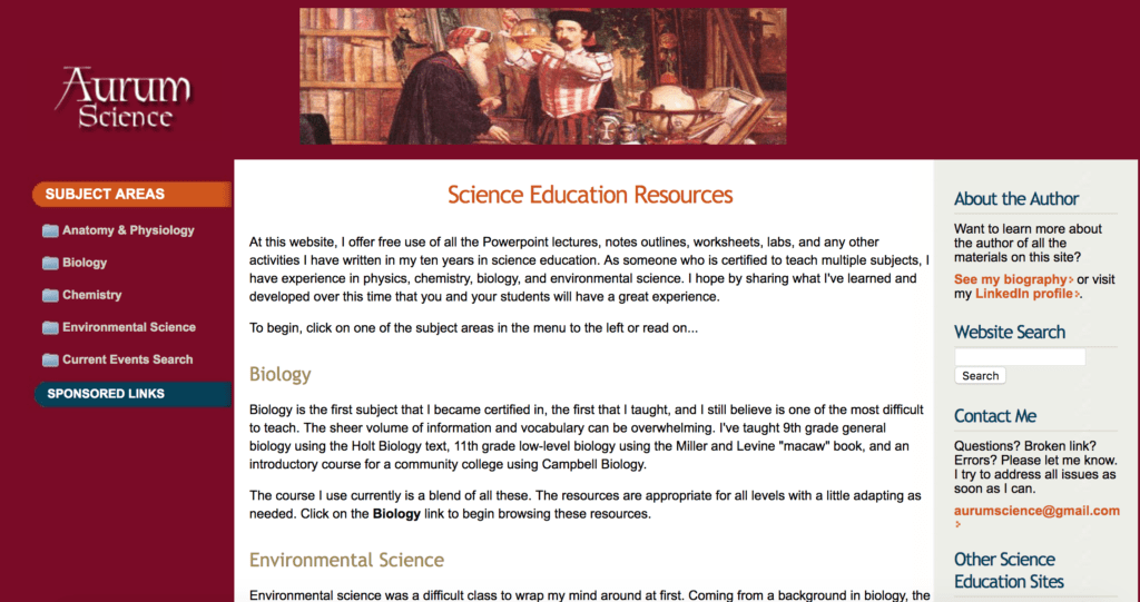 example of tutoring website selling instructional materials