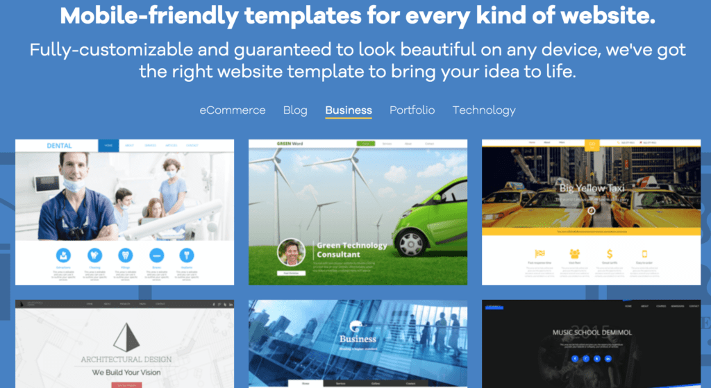 gator website builder business templates