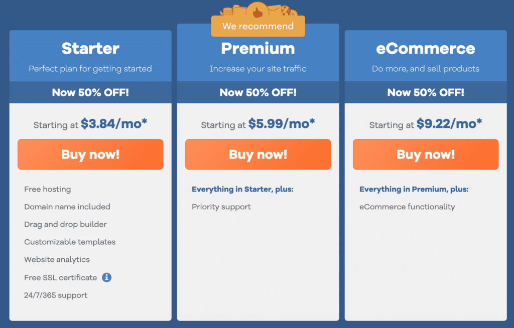 gator website builder pricing plans