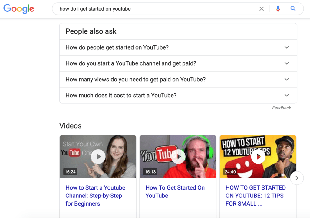 search results for how do i get started on youtube