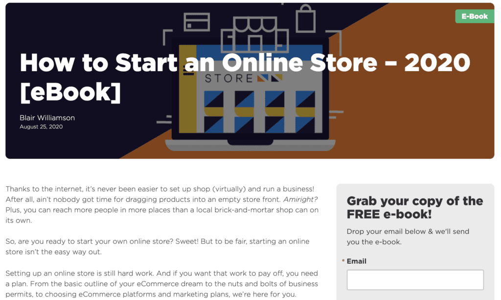 hostgator ebook how to start an online store
