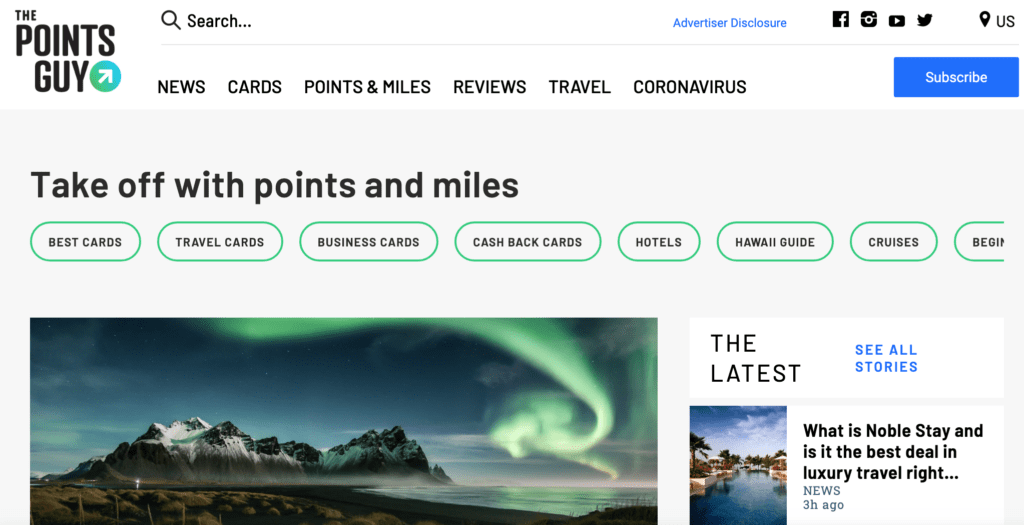 the points guy affiliate website