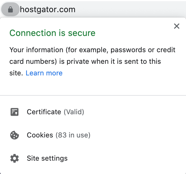 website with a secure connection via ssl
